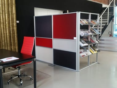 Free standing modular workstation screen TETRIX