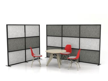 Sound absorbing free standing workstation screen TETRIX SHH