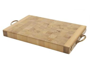 Tagliere rettangolare in legno massello con manico TGL009 | Tagliere
