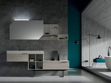 Floor-standing vanity unit with mirror THAI 310