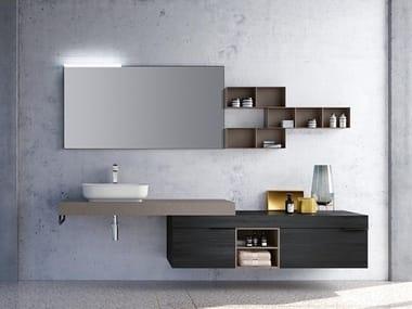 Countertop rectangular washbasin THAI 318