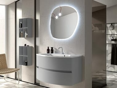 Wall-mounted vanity unit with mirror THAI 323