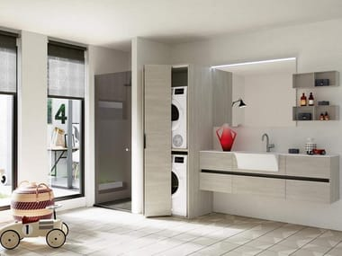 Mobile lavanderia con lavatoio per lavatrice THAI 325
