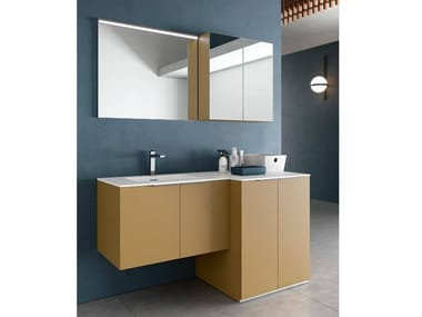 Mobile lavanderia con specchio per lavatrice THAI 328