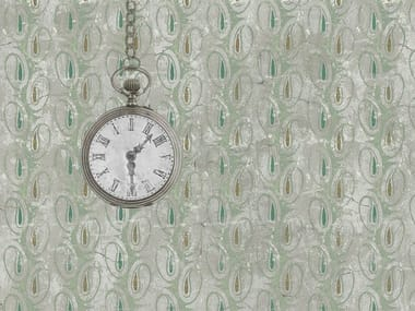 Classic but contemporary wallpaper, PVC free, eco, washable THE ANCIENT CLOCK