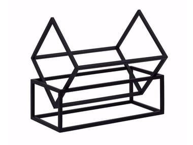 Contemporary style steel magazine rack THE BOOK KEEPER | Magazine rack