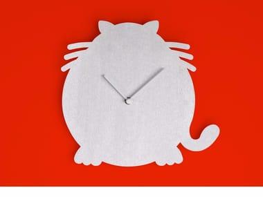 Wall-mounted aluminium clock THE CAT