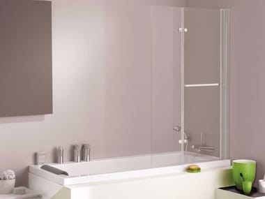 Folding crystal bathtub wall panel ESSENTIALS | Bathtub wall panel