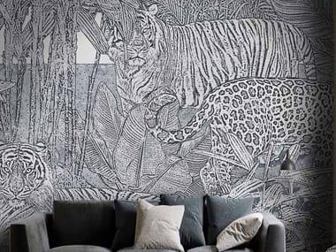 Papel de parede ecológico de tecido não tecido THE EYE OF THE TIGER