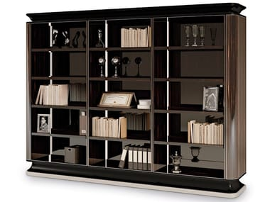 Open wall-mounted ebony bookcase THE MAJESTIC | Open bookcase