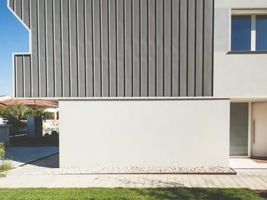 Rivestimento di facciata con unione di lastre profilate THE SKIN SISTEMA AGGRAFFATURA ANGOLARE