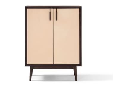 Aparador de madeira com portas THEO | Armário de cozinha