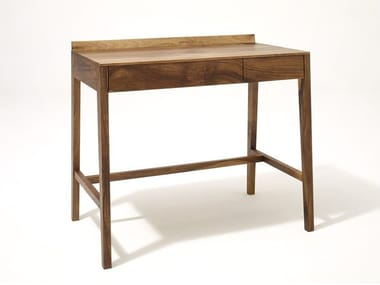 Rectangular solid wood writing desk with drawers THEO LIGHT DESK | Solid wood writing desk