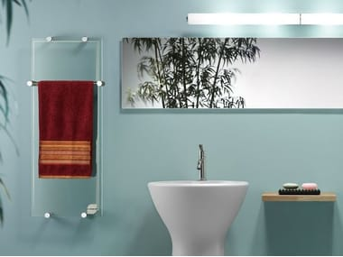 Infrared wall-mounted towel warmer THERMOGLANCE ® 400X1000 | Towel warmer