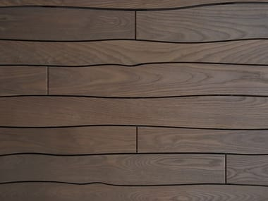 Thermo ash modular curved decking THERMORY WITH BOLE