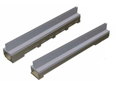 Concrete Drainage channel and part THIN - BASE100 / MODEL