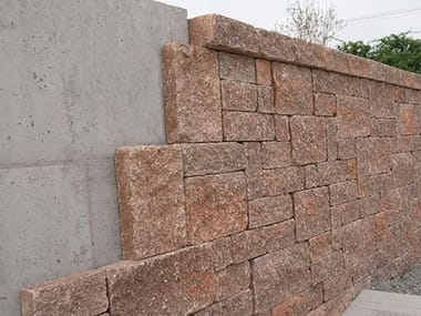 Outdoor concrete wall tiles THINBLOCK®