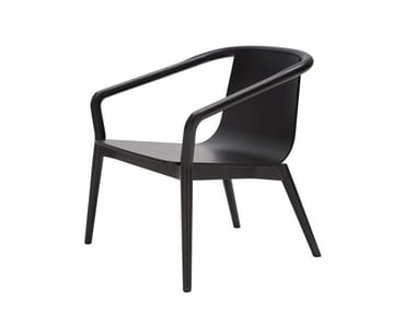 Ash easy chair with armrests THOMAS | Easy chair