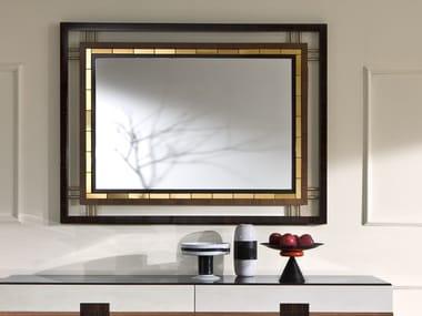 Rectangular wall-mounted framed mirror TIARÈ