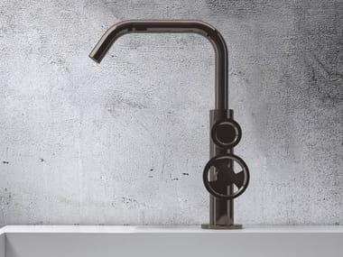 Robinet pour lavabo à poser monotrou en métal de style contemporain sans garniture d'écoulement TIBÒ - TIB1C