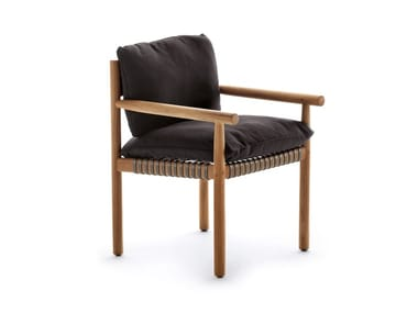 Teak chair with armrests TIBBO | Chair with armrests