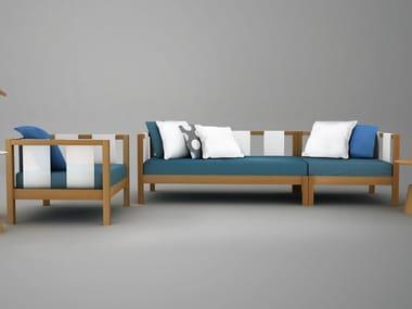 Modular wooden sofa TIERA | Sofa