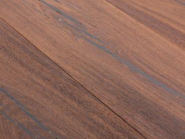Oak flooring TIGER OAK BLACK - WHITE OIL