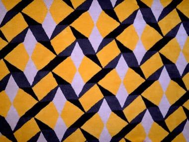 Rectangular wool rug with geometric shapes TILES | Handmade rug