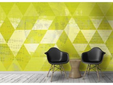 Papel de parede geométrico lavável de vinil TILING