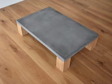 Tavolino da caffè rettangolare in calcestruzzo TIMBER