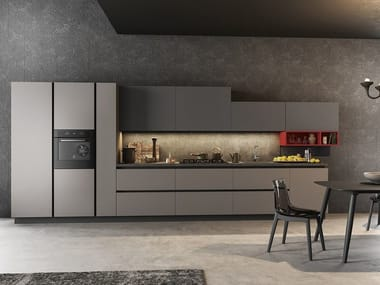 Fitted kitchen with integrated handles TIME