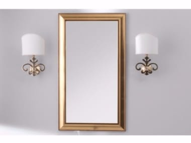 Rectangular framed mirror TIME | Mirror