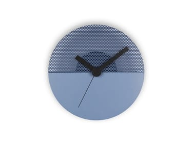 Wall-mounted steel clock TIME