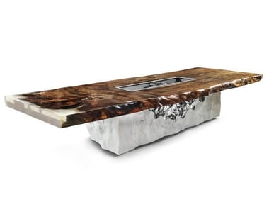 Rectangular Kauri wood table TIMELESS