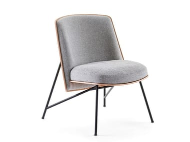 Upholstered fabric easy chair TINKER