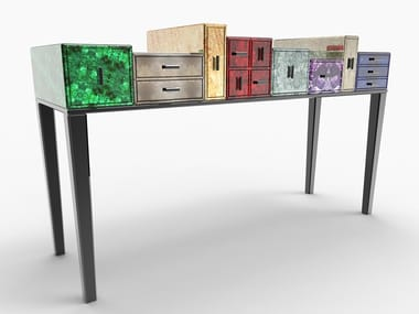 Rectangular console table with drawers TINTORETTO