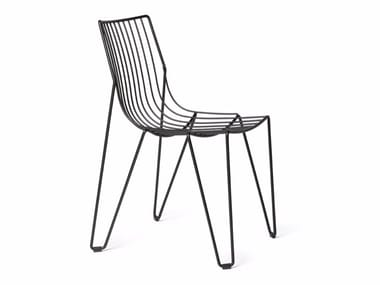 Stackable chair in steel wire TIO | Chair