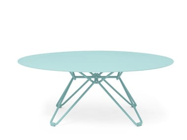 Low round metal coffee table TIO | Round coffee table
