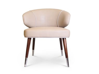 Upholstered leather chair TIPPI | Chair