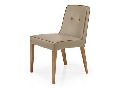 Cadeira de pele de restaurante TISHA   Cadeira