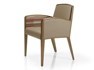 Cadeira de pele com braços TISHA   Cadeira com braços