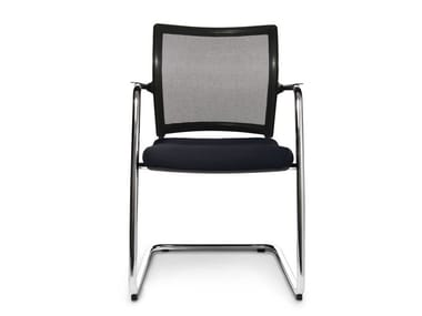 Cantilever reception chair with armrests TITAN 10 VISIT   Cantilever chair