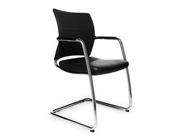 Cantilever reception chair TITAN 20 VISIST   Cantilever chair