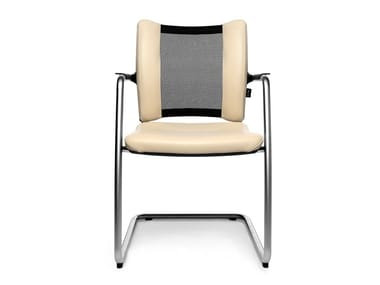 Cantilever reception chair with armrests TITAN LIMITED VISIT   Cantilever chair