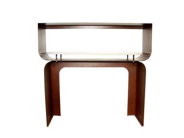 Corten™ console table with shelving TITANO