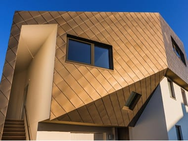 Continuous metal laminate for facade Anodized Aluminum Double-seaming