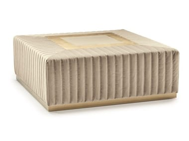 Pouf imbottito quadrato in tessuto TIVOLI | Pouf