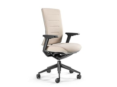 Recliner fabric task chair with 5-Spoke base TNK FLEX | Fabric task chair