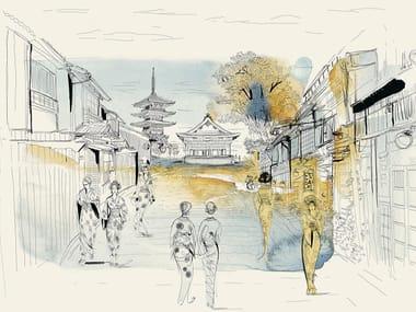 Papel de parede ecológico de tecido não tecido TOKYO, JAPAN, CITY AND PEOPLE