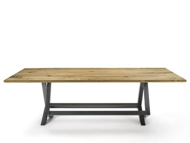 Rectangular briccola wood table TOLA